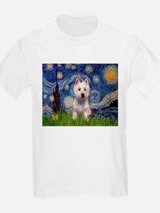 Starry - Westie (P) T-Shirt