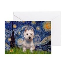 Starry - Westie (P) Greeting Card