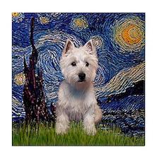 Starry - Westie (P) Tile Coaster