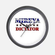 MIREYA for dictator Wall Clock