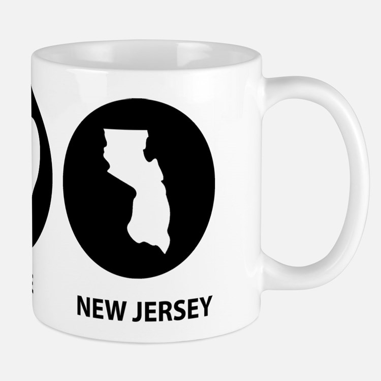 Peace Love New Jersey Mug