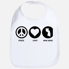 Peace Love New Jersey Bib