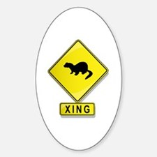 Mink XING Oval Decal