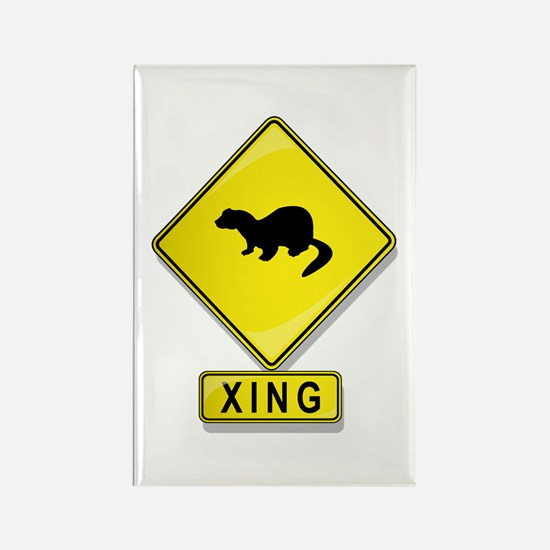 Mink XING Rectangle Magnet