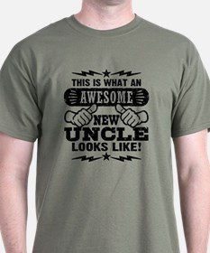 Awesome New Uncle T-Shirt