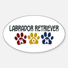 Labrador Retriever Mom 1 Oval Decal