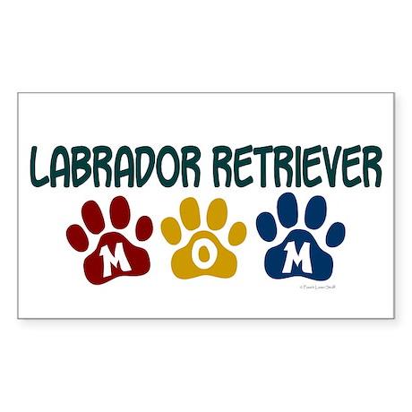Labrador Retriever Mom 1 Rectangle Sticker