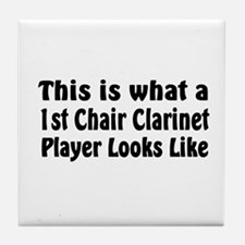 1st Chair Clarinet Tile Coaster