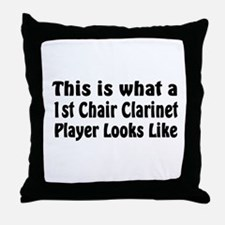 1st Chair Clarinet Throw Pillow