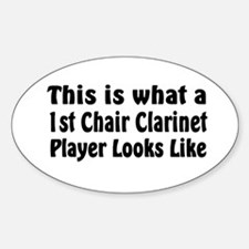 1st Chair Clarinet Oval Decal