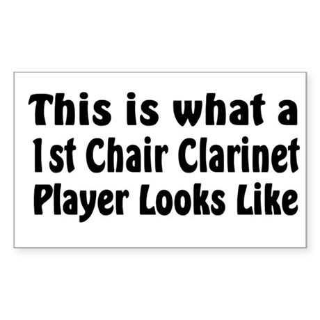 1st Chair Clarinet Rectangle Sticker