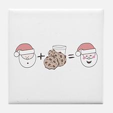 Santa Cookie Math Tile Coaster