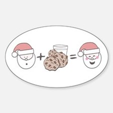 Santa Cookie Math Sticker (Oval)