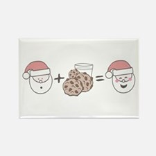 Santa Cookie Math Rectangle Magnet
