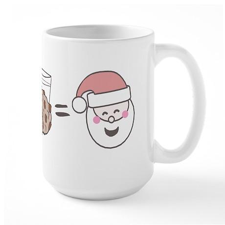 Santa Cookie Math Large Mug