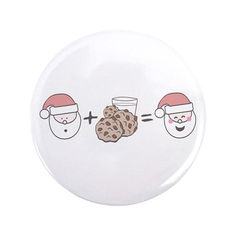 """Santa Cookie Math 3.5"""" Button (100 pack)"""