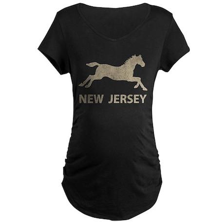 Vintage New Jersey Horse Maternity Dark T-Shirt
