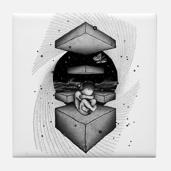 Space Baby Tile Coaster