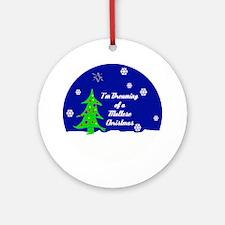 A Maltese Christmas Ornament (Round)
