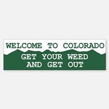 Welcome To Colorado Bumper Bumper Bumper Sticker