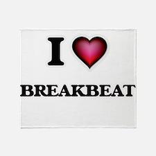 I Love BREAKBEAT Throw Blanket