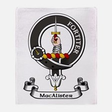Badge - MacAlister Throw Blanket