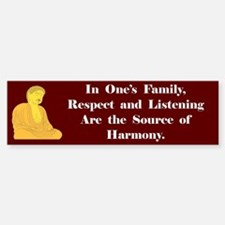 The Source Of Harmony Bumper Bumper Bumper Sticker