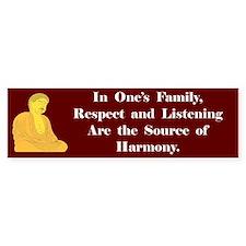 The Source Of Harmony Bumper Bumper Sticker