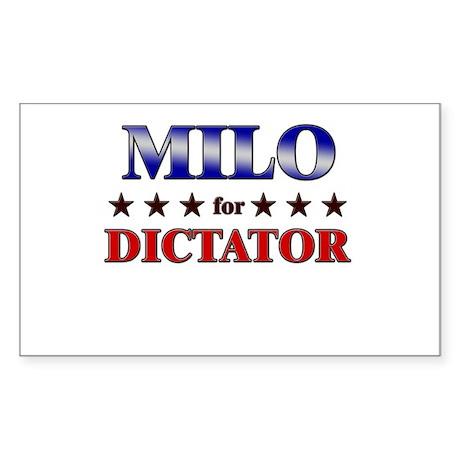 MILO for dictator Rectangle Sticker