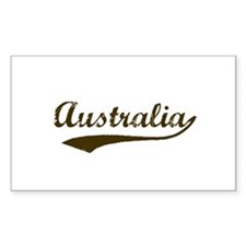 Vintage Australia Rectangle Decal