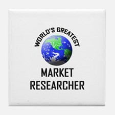 World's Greatest MARKET RESEARCHER Tile Coaster