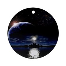 Moon's Midnight Ornament (Round)