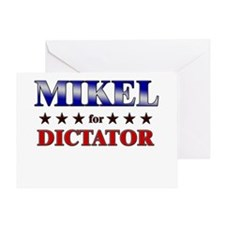 MIKEL for dictator Greeting Card