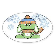 Snow Bunny Oval Bumper Stickers