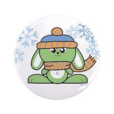 """Snow Bunny 3.5"""" Button"""