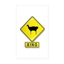 Llama XING Rectangle Decal
