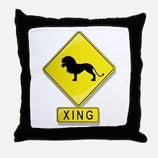 Lion XING Throw Pillow