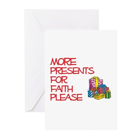 More Presents For Faith Greeting Cards (Pk of 10)