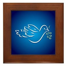 Peace Dove Framed Tile