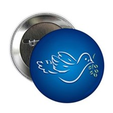 "Peace Dove 2.25"" Button (100 pack)"