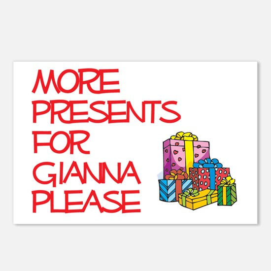 More Presents For Gianna Postcards (Package of 8)