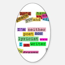 I am writer Oval Decal