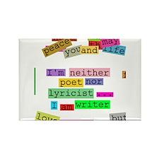 I am writer Rectangle Magnet
