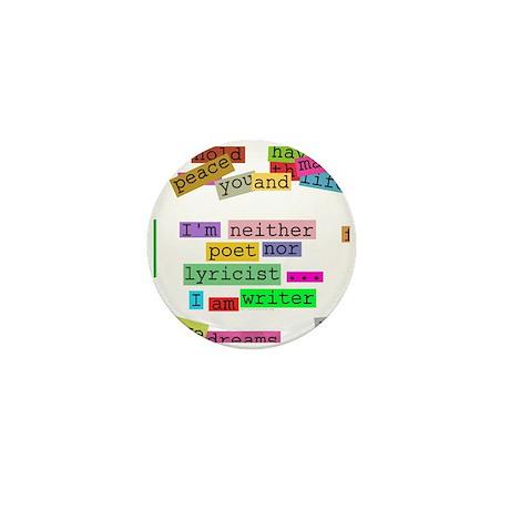 I am writer Mini Button (10 pack)