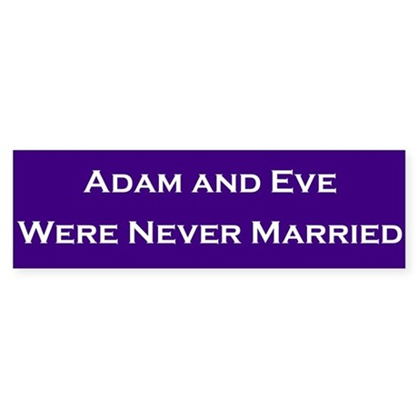 Adam & Eve #2 Bumper Stickers