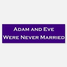 Adam & Eve #2 Bumper Stickers