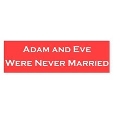Adam & Eve Bumper Bumper Sticker