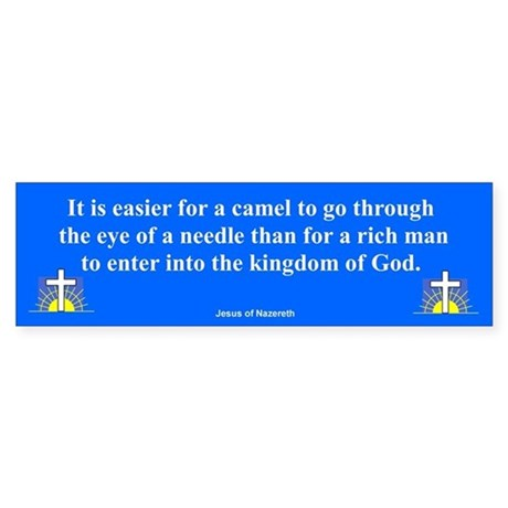 Eye Of The Needle Bumper Sticker