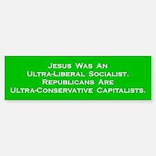 Jesus Socialist Bumper Car Car Sticker