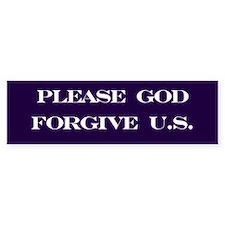 Please God Bumper Car Sticker